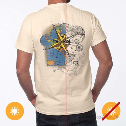 Picture of Men Classic Crew Tee - Lost Atlas by DelSol by Men - 1 Pc T-Shirt (Small)