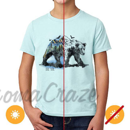 Picture of Kids Crew Tee - Bear Scene - Ice Blue by DelSol for Kids - 1 Pc T-Shirt (YM)
