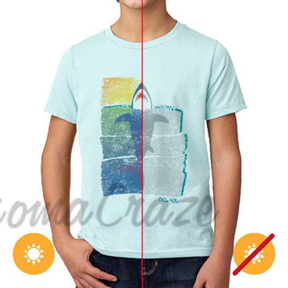 Picture of Kids Crew Tee - Rising Shark by DelSol for Kids - 1 Pc T-Shirt (YM)