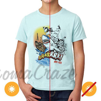 Picture of Kids Crew Tee - Sharrrk by DelSol for Kids - 1 Pc T-Shirt (YXS)