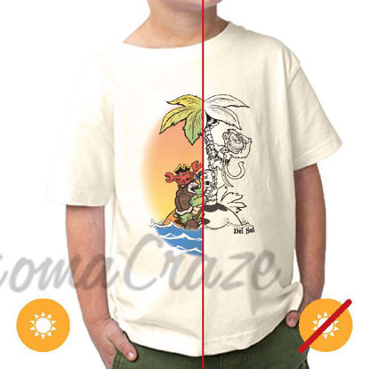 Picture of Kids Crew Tee - Pirate Trio by DelSol for Kids - 1 Pc T-Shirt (4T)