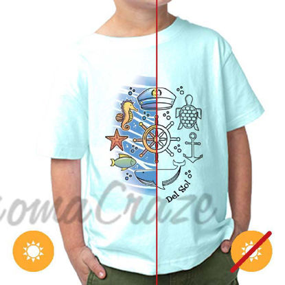 Picture of Kids Crew Tee - Sea Adventure by DelSol for Kids - 1 Pc T-Shirt (4T)