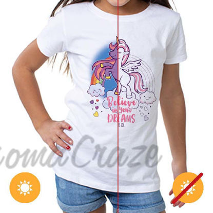 Picture of Kids Crew Tee - Believe by DelSol for Kids - 1 Pc T-Shirt (YXS)