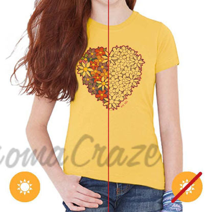Picture of Kids Crew Tee - I Heart Flowers by DelSol for Kids - 1 Pc T-Shirt (YL)