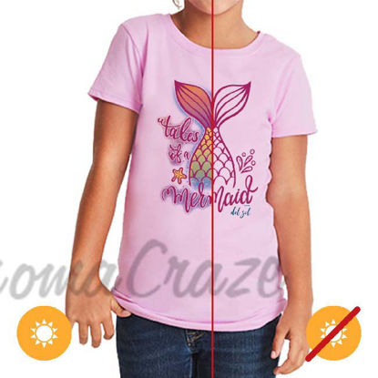 Picture of Kids Crew Tee - Tales of a Mermaid by DelSol for Kids - 1 Pc T-Shirt (YXS)