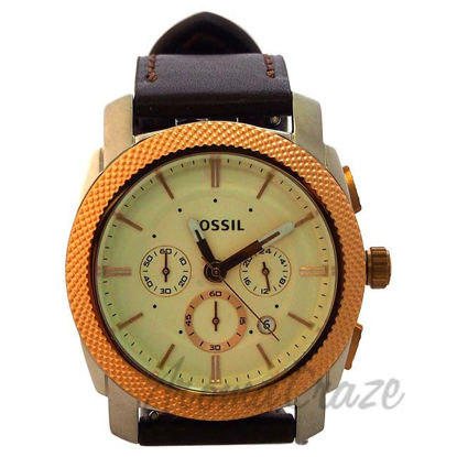 Picture of FS5040P Machine Chronograph Brown Leather Watch by Fossil for Men - 1 Pc Watch