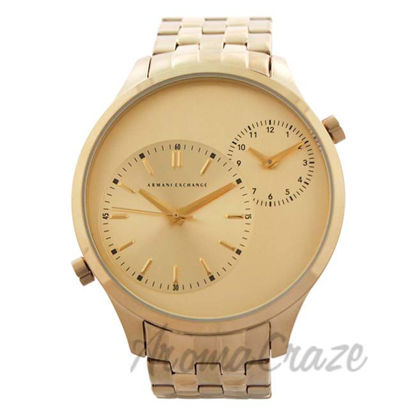 Picture of AX2176 Gold-Tone Stainless Steel Bracelet Watch by Armani Exchange for Men - 1 Pc Watch