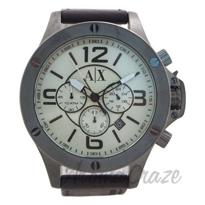 Picture of AX1519 Chronograph Dark Brown Leather Strap Watch by Armani Exchange for Men - 1 Pc Watch