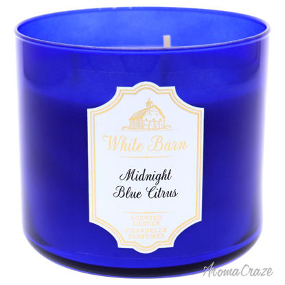 Picture of Midnight Blue Citrus 3-Wick Scented Candle by Bath and Body Works for Unisex - 1 oz