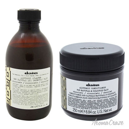 Picture of Alchemic Chocolate Shampoo and Conditioner Kit by Davines for Unisex - 2 Pc Kit 9.46oz Shampoo, 8.84