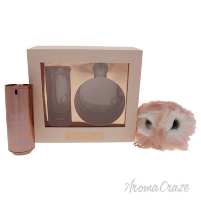 Picture of Babe Power by Missguided for Women - 2 Pc Gift Set 2.7oz EDP Spray, Pom Pom Keyring