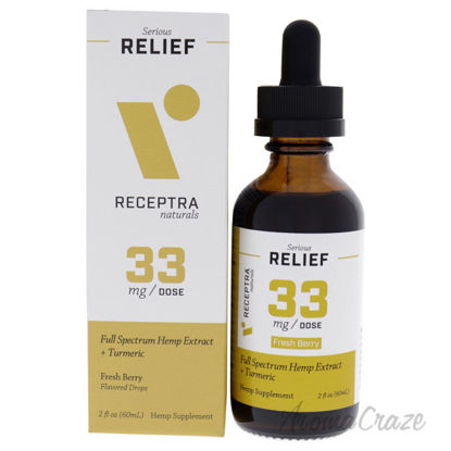 Picture of Serious Relief 33mg Drops - Fresh Berry by Receptra Naturals for Unisex - 2 oz Dietary Supplement