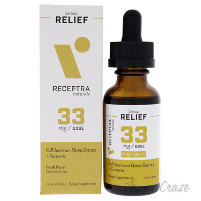 Picture of Serious Relief 33mg Drops - Fresh Berry by Receptra Naturals for Unisex - 1 oz Dietary Supplement