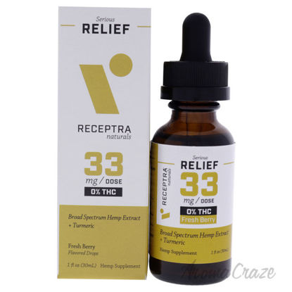 Picture of Serious Relief 33mg Or percent THC Drops - Fresh Berry by Receptra Naturals for Unisex - 1 oz Dietary Supplement