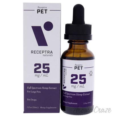 Picture of Receptra Pet 25mg Drops by Receptra Naturals for Unisex - 1 oz Pet Drops