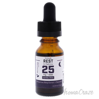 Picture of Serious Rest Nighttime 25mg Drops - Vanilla Mint by Receptra Naturals for Unisex - 0.5 oz Dietary Supplement