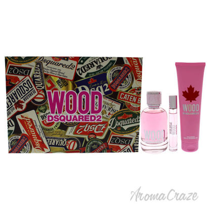 Picture of Wood by Dsquared2 for Women - 3 Pc Gift Set 3.4oz EDT Spray, 0.3 EDT Travel Spray, 5.0oz Bath and Shower Gel