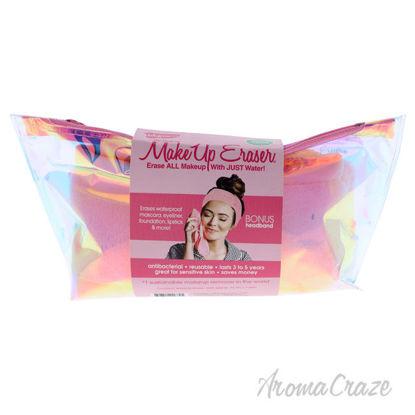 Picture of Hologram Essential by MakeUp Eraser for Women - 3 Pc Set Original MakeUp Eraser - Light Pink, Headband - Light Pink, Holographic Makeup Bag