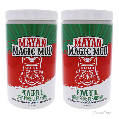Picture of Powerful Deep Pore Cleansing Clay - Pack of 2 by Mayan Magic Mud for Unisex - 32 oz Cleanser