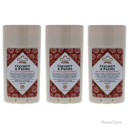 Picture of Indian Hemp Haitian Vetiver 24 Hour Deodorant by Nubian Heritage for Unisex - 2.25 oz Deodorant Stick - Pack of 3