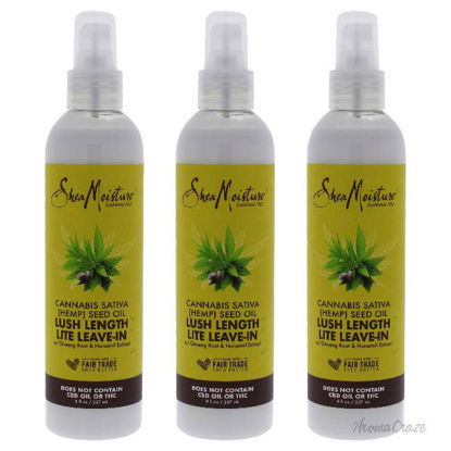 Picture of Cannabis Sativa Hemp Seed Oil Lush Length Lite Leave-In by Shea Moisture for Unisex - 8 oz Oil - Pack of 3