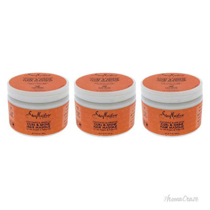 Picture of Coconut and Hibiscus Curl and Shine Hair Masque by Shea Moisture for Unisex - 12 oz Masque - Pack of 3