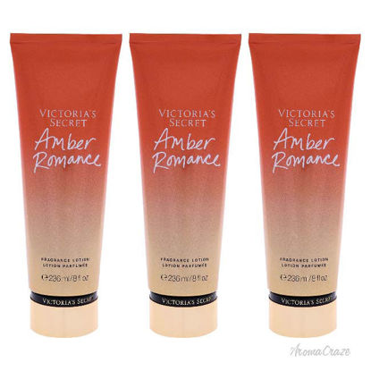 Picture of Amber Romance Fragrance Lotion by Victorias Secret for Women - 8 oz Body Lotion - Pack of 3