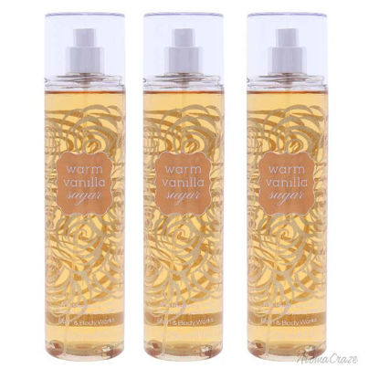Picture of Warm Vanilla Sugar by Bath and Body Works for Women - 8 oz Fragrance Mist - Pack of 3