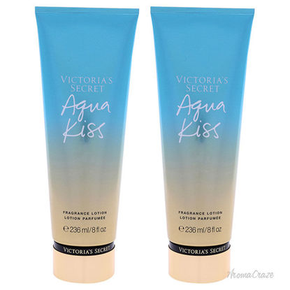 Picture of Aqua Kiss Fragrance Lotion by Victorias Secret for Women - 8 oz Body Lotion - Pack of 2