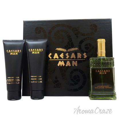 Picture of Caesars by Caesars for Men - 3 Pc Gift Set 4oz Cologne Spray, 3.3oz Hair And Body Wash, 3.3oz After Shave Balm