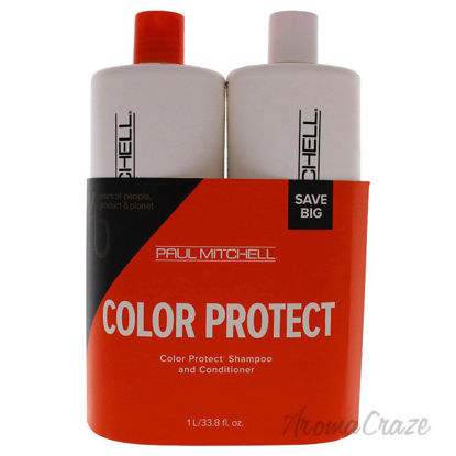 Picture of Color Protect Daily Kit by Paul Mitchell for Unisex - 2 Pc Kit 33.8 oz Shampoo, 33.8 oz Conditioner