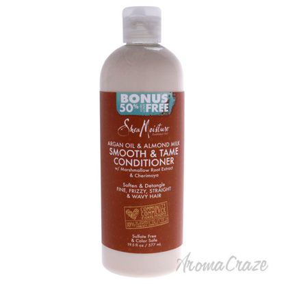 Picture of Argan Oil and Almond Milk Smooth and Tame Conditioner by Shea Moisture for Unisex - 19.5 oz Conditioner