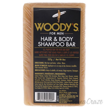 Picture of Hair and Body Shampoo Bar by Woodys for Unisex 8 oz Shampoo
