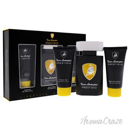 Picture of Prestigio by Tonino Lamborghini for Men 3 Pc Gift Set 4.2oz EDT Spray, 3.4oz Shower Gel, 3.4oz After Shave Balm