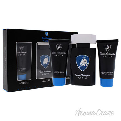 Picture of Acqua by Tonino Lamborghini for Men 3 Pc Gift Set 4.2oz EDT Spray, 3.4oz Shower Gel, 3.4oz After Shave Balm