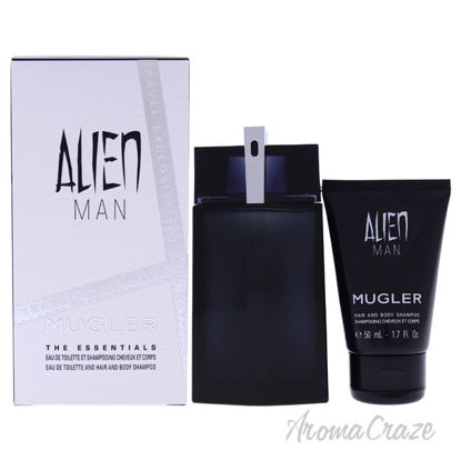 Picture of Alien Man by Thierry Mugler for Men 2 Pc Gift Set 3.4 oz EDT Spray, 1.7oz Hair and Body Shampoo