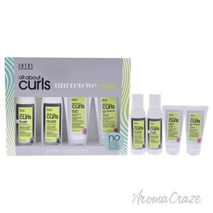 Picture of All About Curls Starter Kit by Zotos for Women 4.0 pc 3 oz Cleanser, 3 oz Conditioner, 1.7 Gel, 1.7 Cream