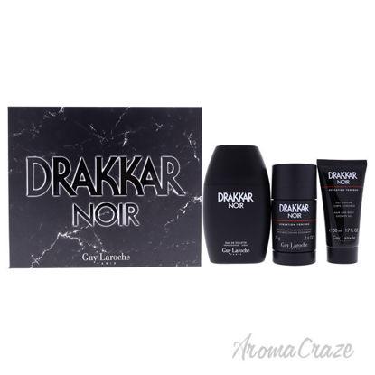 Picture of Drakkar Noir by Guy Laroche for Men 3 Pc Gift Set 3.4oz EDT Spray, 2.6oz Deodorant Stick, 1.7oz Shower Gel