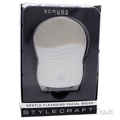 Picture of Scrubs Gentle Cleansing Facial Brush Gray by StyleCraft for Unisex 1 Pc Brush