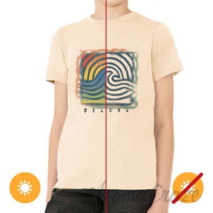 Picture of Men Crew Tee Wave Spray Beige by DelSol for Men 1 Pc T Shirt (YXS)