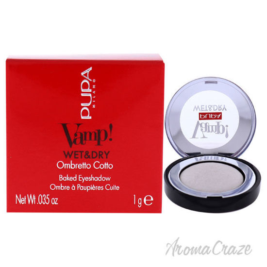 Picture of Vamp! Wet and Dry Baked Eyeshadow 300 White Snow by Pupa Milano for Women 0.035 oz Eye Shadow