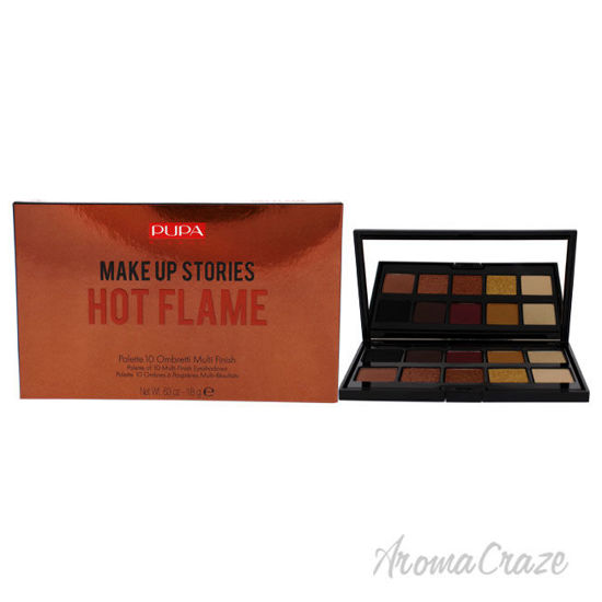 Picture of Make Up Stories Eyeshadow Palette 002 Hot Flame by Pupa Milano for Women 0.63 oz Eye Shadow