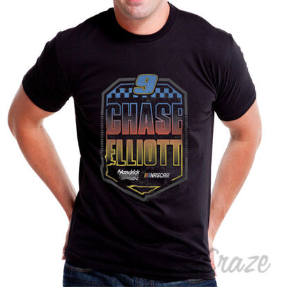 Picture of NASCAR Mens Classic Crew Tee Chase Elliot 7 Black by DelSol for Men 1 Pc T Shirt (3XL)
