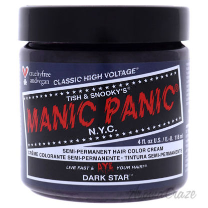 Picture of Classic High Voltage Hair Color Dark Star by Manic Panic for Unisex 4 oz Hair Color