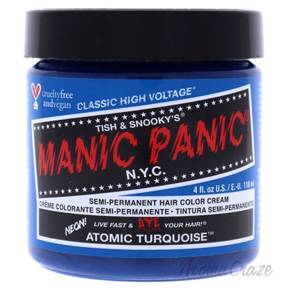 Picture of Classic High Voltage Hair Color Atomic Turquoise by Manic Panic for Unisex 4 oz Hair Color