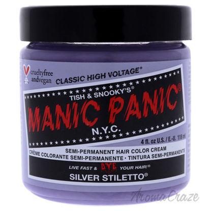 Picture of Classic High Voltage Hair Color Silver Stiletto by Manic Panic for Unisex 4 oz Hair Color
