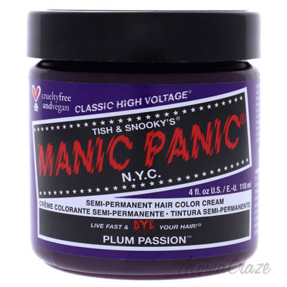 Picture of Classic High Voltage Hair Color Plum Passion by Manic Panic for Unisex 4 oz Hair Color