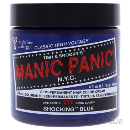 Picture of Classic High Voltage Hair Color Shocking Blue by Manic Panic for Unisex 4 oz Hair Color