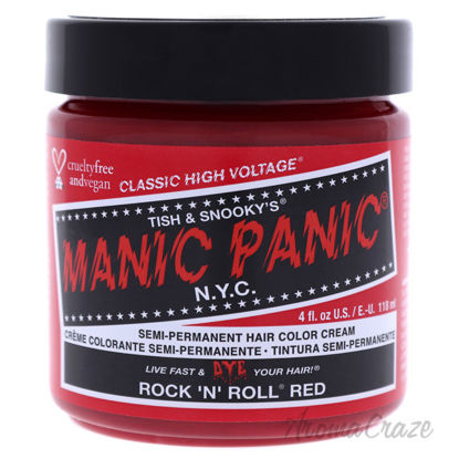 Picture of Classic High Voltage Hair Color Rock N Roll Red by Manic Panic for Unisex 4 oz Hair Color