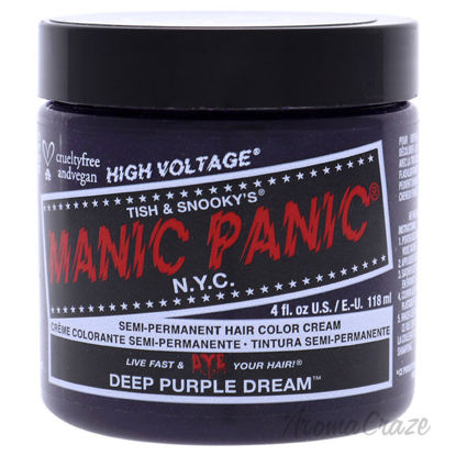 Picture of Classic High Voltage Hair Color Deep Purple Dream by Manic Panic for Unisex 4 oz Hair Color